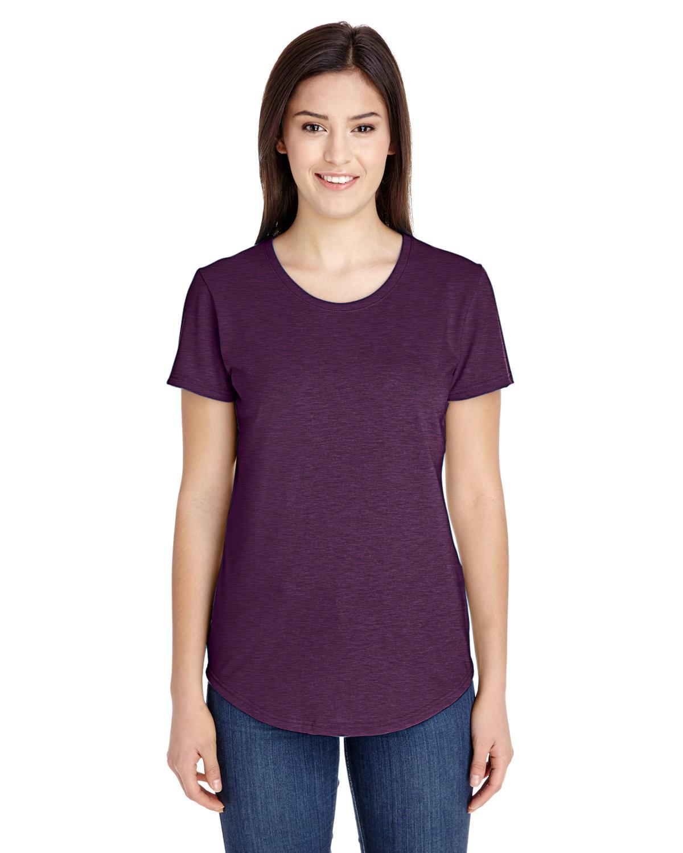 Anvil Ladies' Triblend T-Shirt HTH AUBERGINE