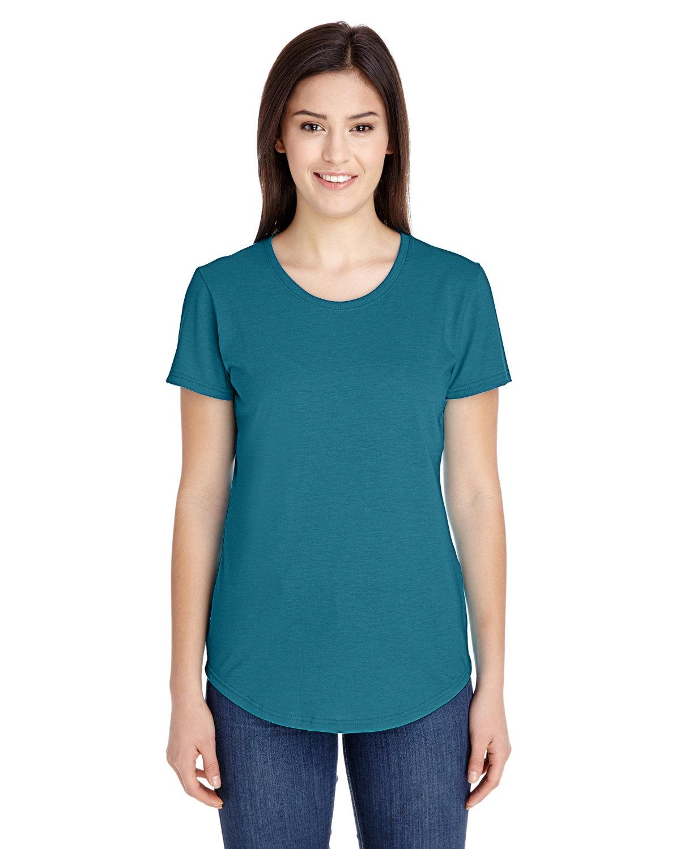 Anvil Ladies' Triblend T-Shirt HTH GALAP BLUE