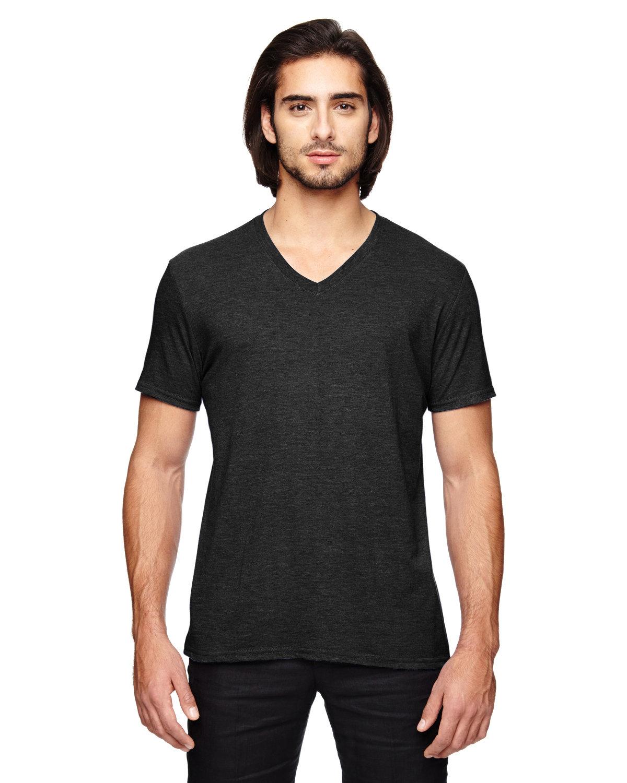 Anvil Adult Triblend V-Neck T-Shirt BLACK