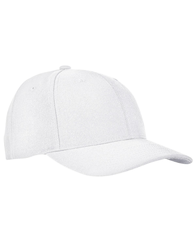 Yupoong Premium Curved Visor Snapback WHITE