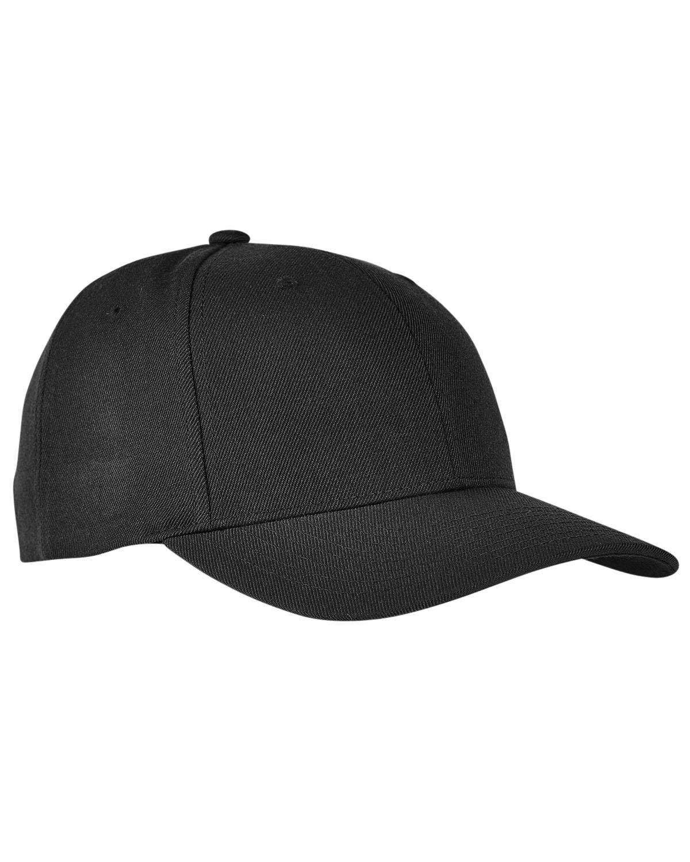 Yupoong Premium Curved Visor Snapback BLACK