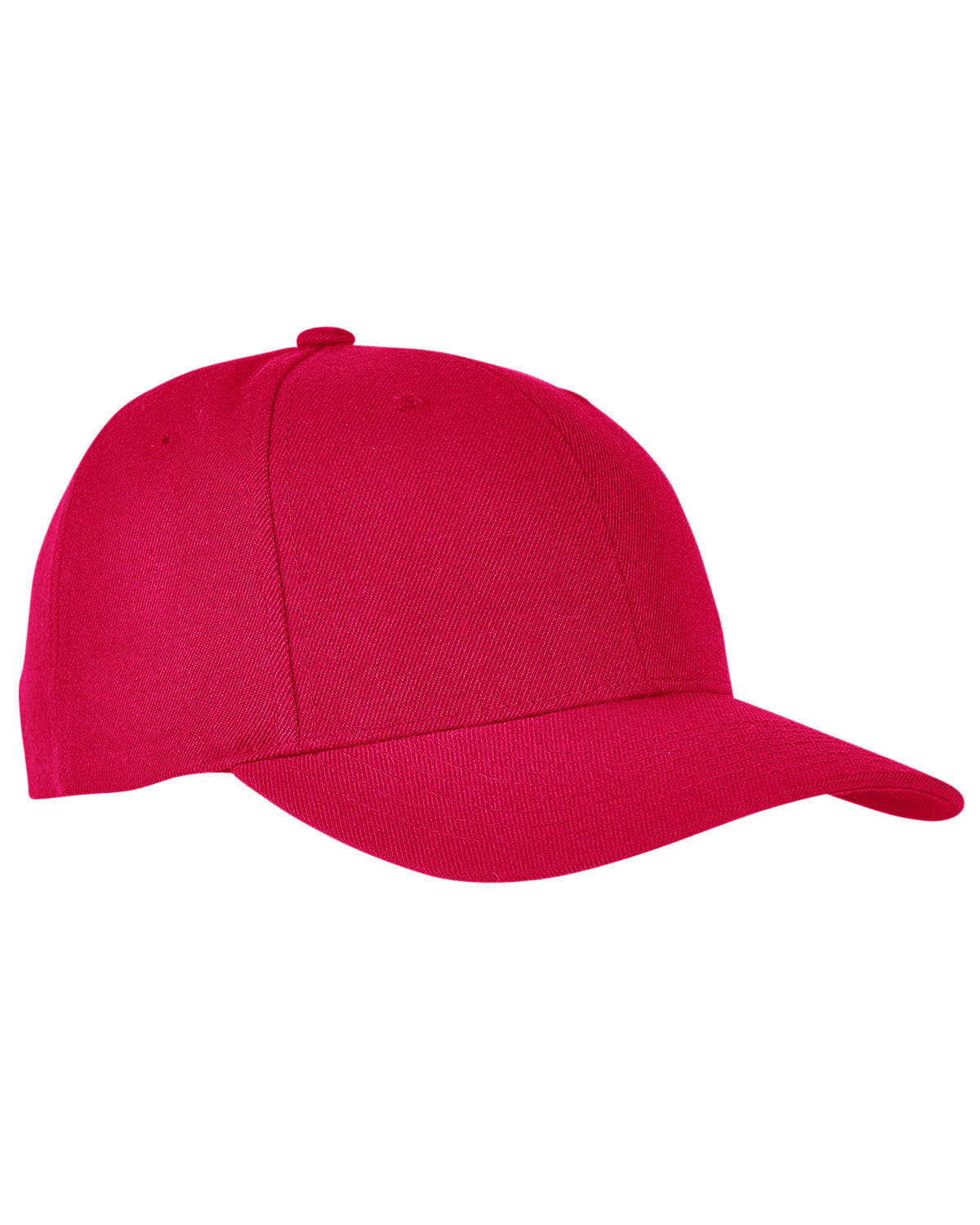 Yupoong Premium Curved Visor Snapback RED