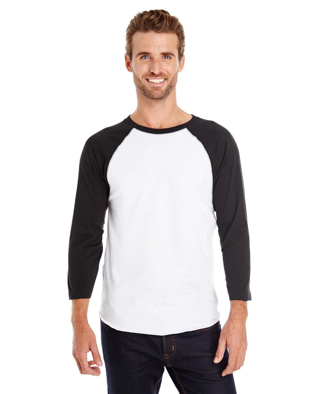 LAT Men's Baseball T-Shirt WHITE/ BLACK