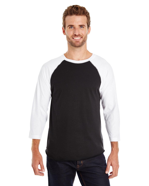 LAT Men's Baseball T-Shirt BLACK/ WHITE