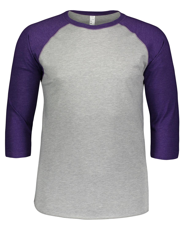 LAT Men's Baseball T-Shirt VN HTHR/ VN PURP