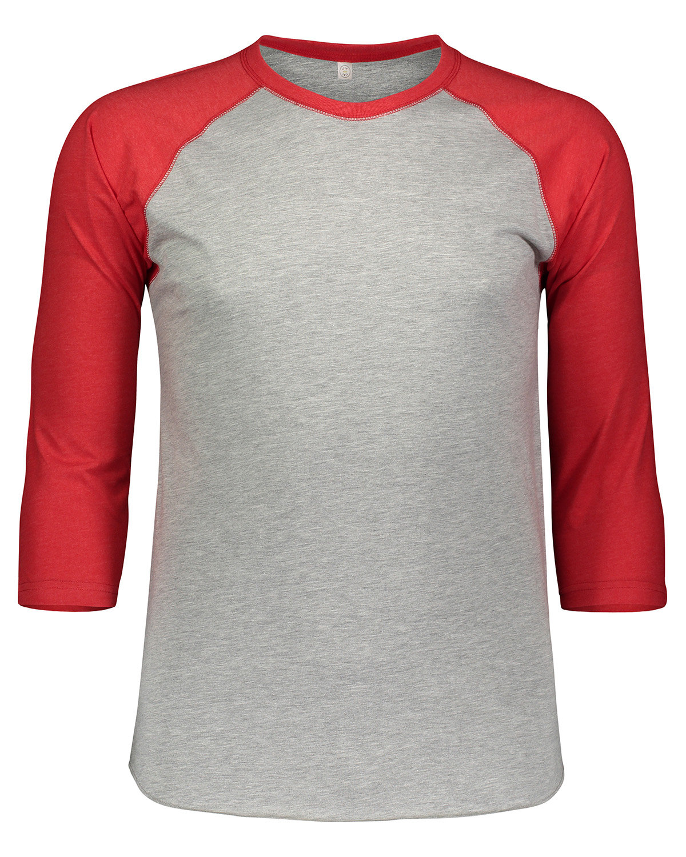LAT Men's Baseball T-Shirt VN HTHR/ VN RED