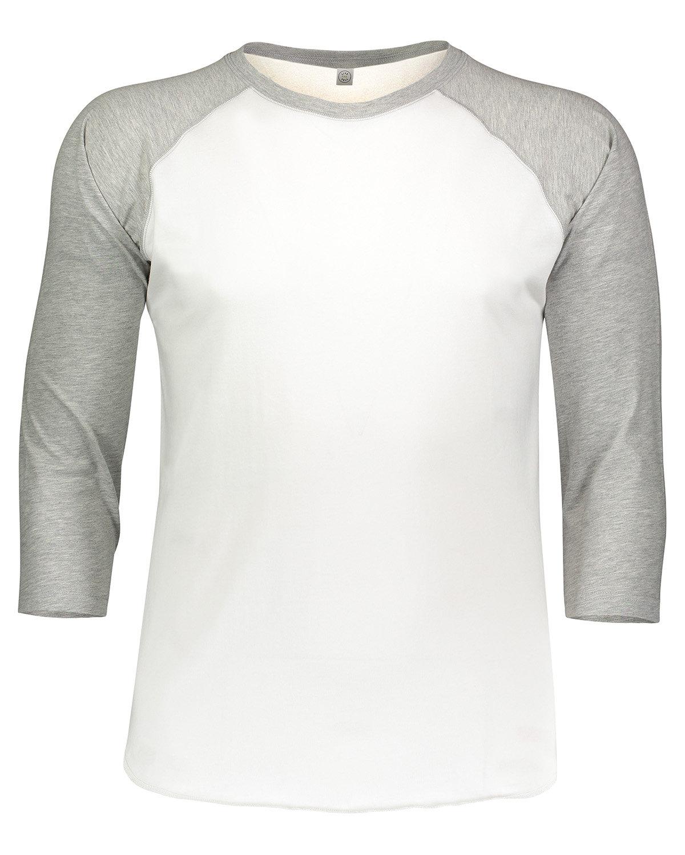LAT Men's Baseball T-Shirt WHITE/ VIN HTHR