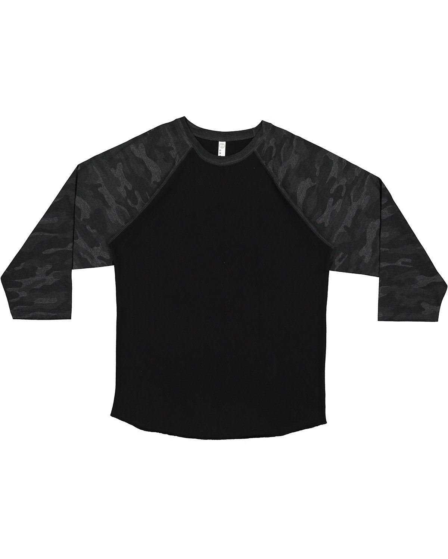 LAT Men's Baseball T-Shirt BLACK/ STORM CMO