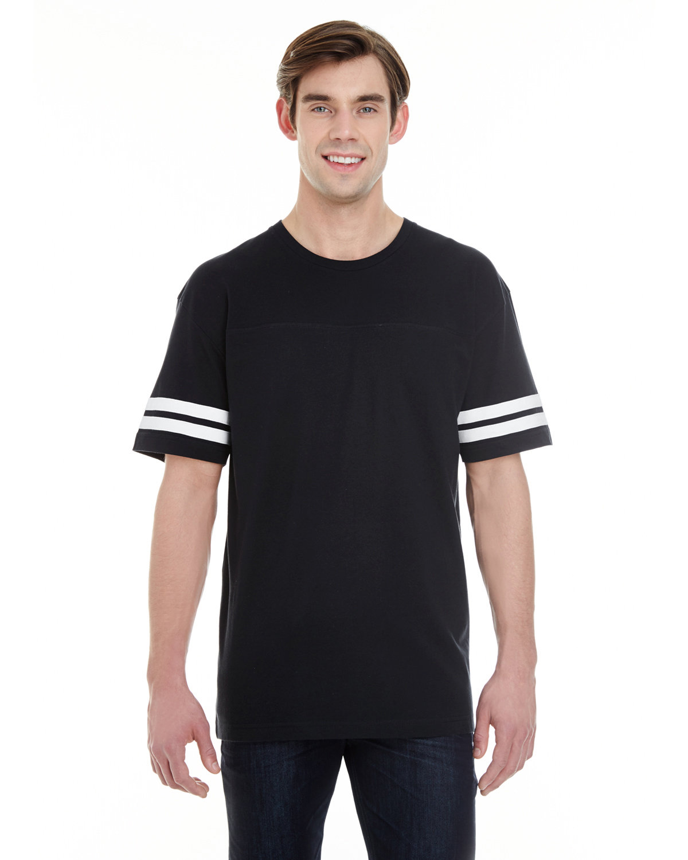 LAT Men's Football T-Shirt BLACK/ WHITE