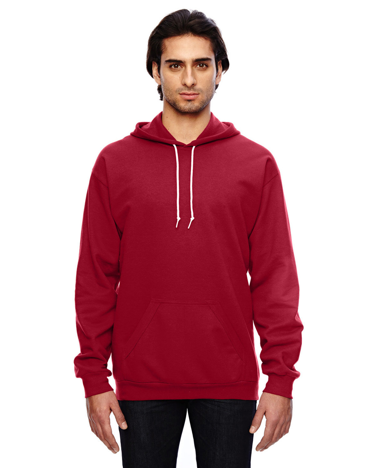 Anvil Adult Pullover Hooded Fleece INDEPENDENCE RED