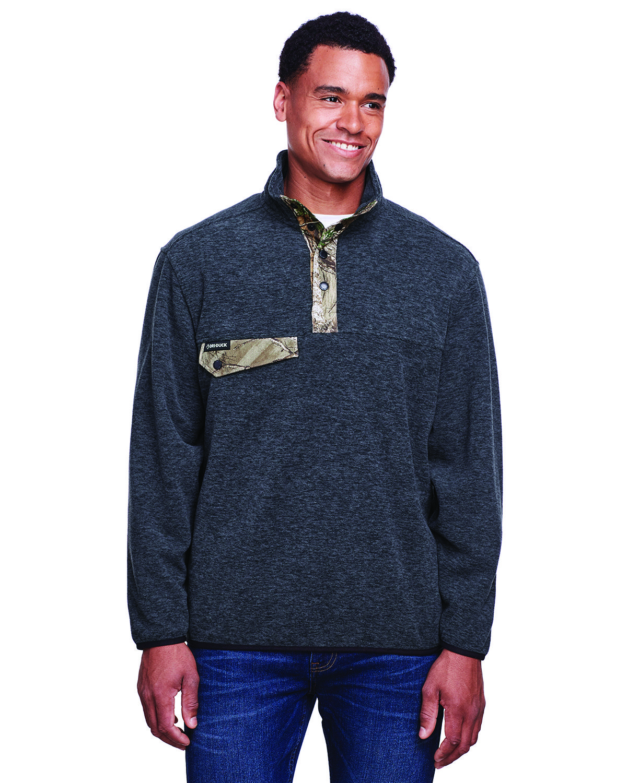 Dri Duck Men's Denali Fleece Pullover Jacket CHRCL/ RL TREE X