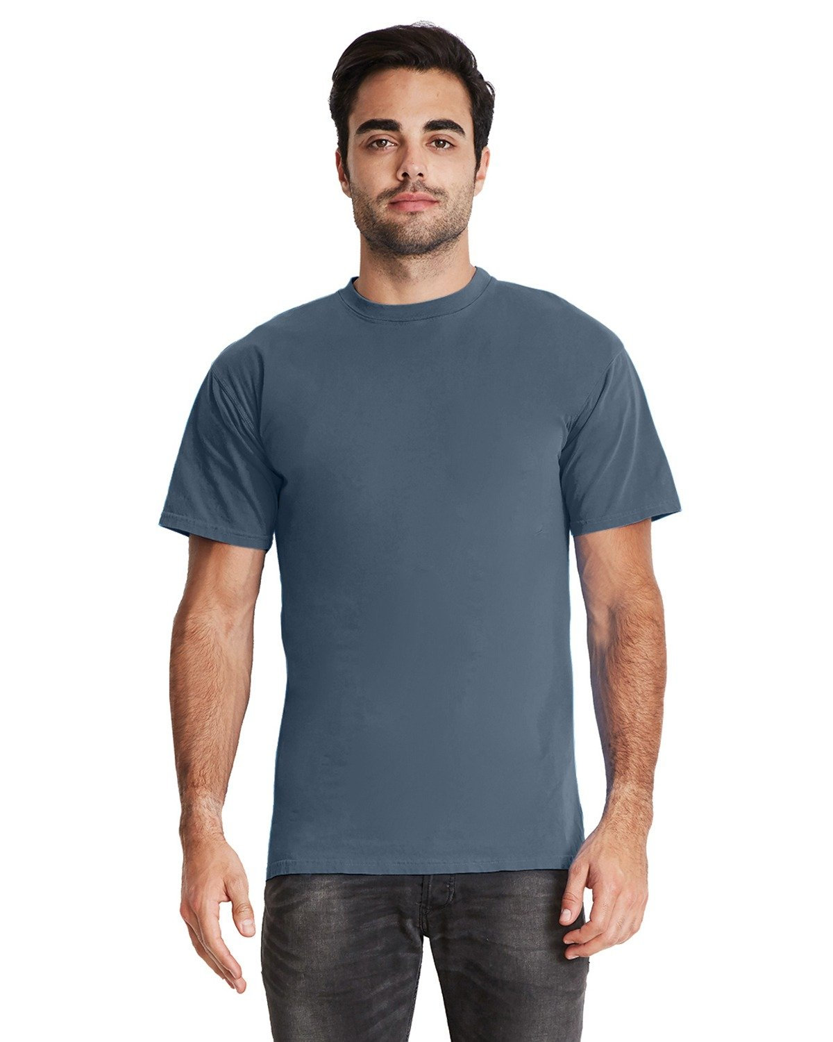 Next Level Adult Inspired Dye Crew BLUE JEAN