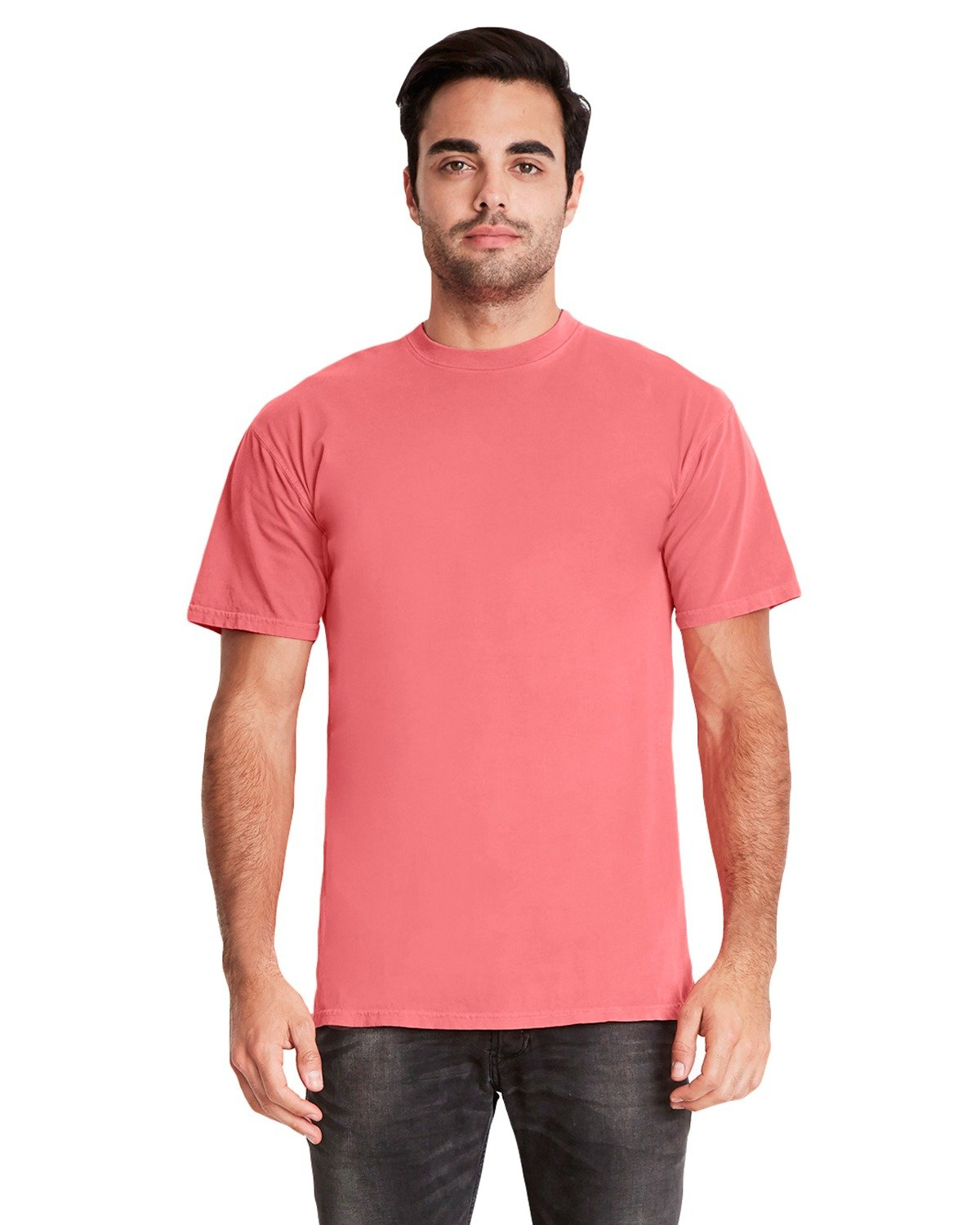 Next Level Adult Inspired Dye Crew GUAVA