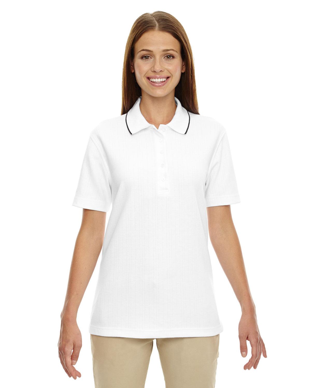 Extreme Ladies' Edry® Needle-Out Interlock Polo WHITE