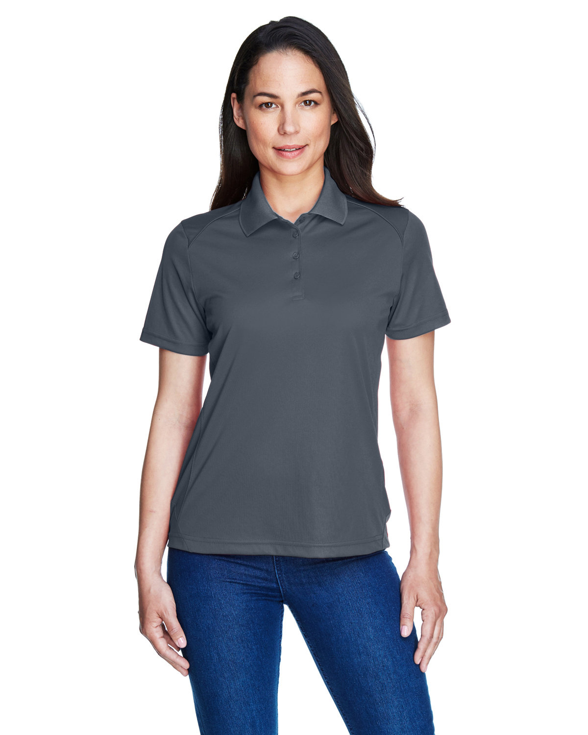 Extreme Ladies' Eperformance™ Shield Snag Protection Short-Sleeve Polo CARBON