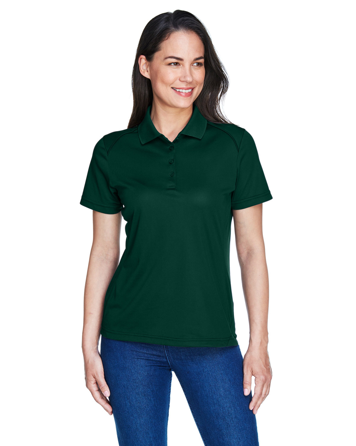 Extreme Ladies' Eperformance™ Shield Snag Protection Short-Sleeve Polo FOREST
