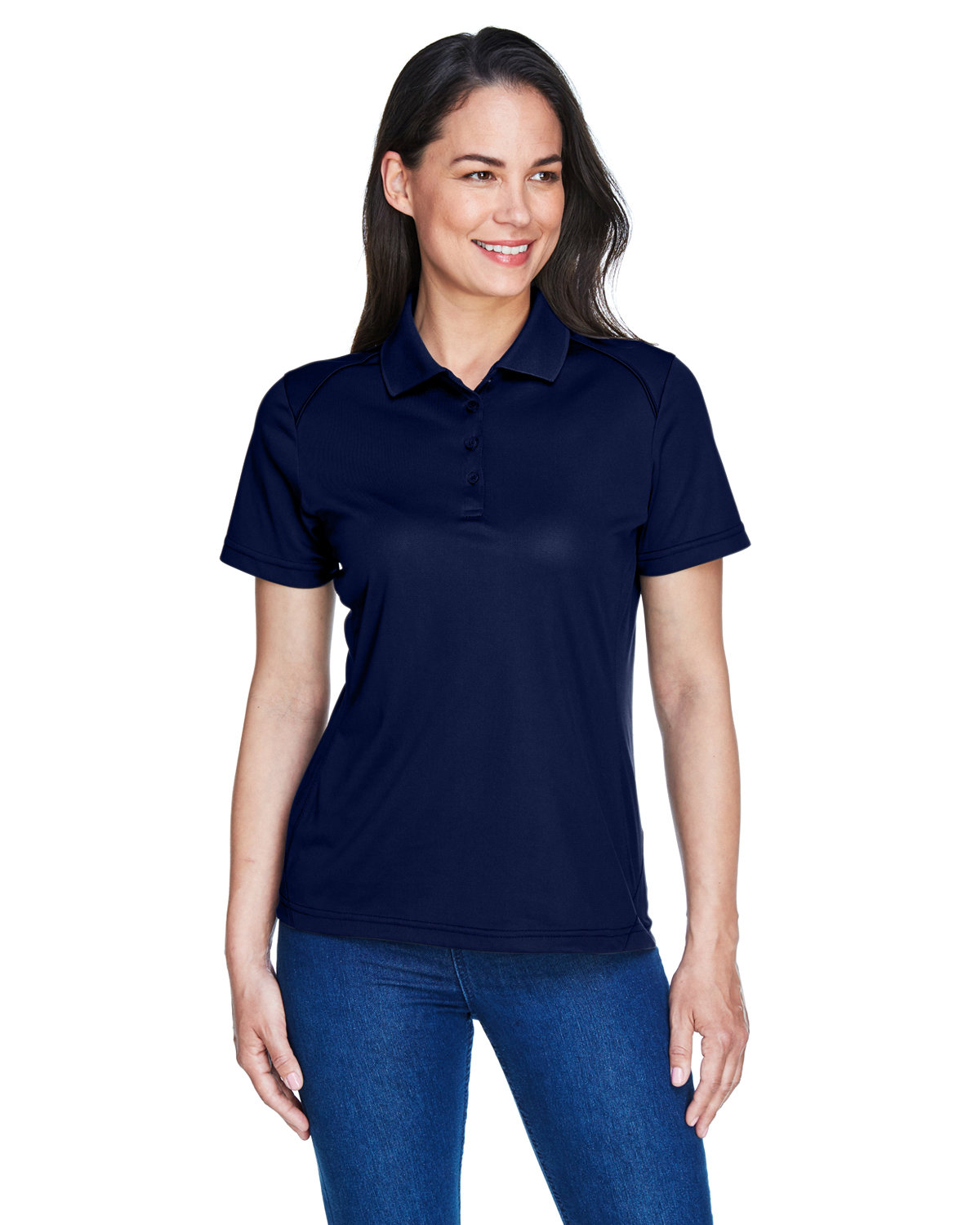 Extreme Ladies' Eperformance™ Shield Snag Protection Short-Sleeve Polo CLASSIC NAVY