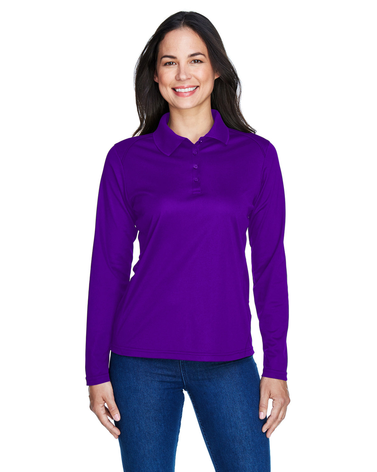 Extreme Ladies' Eperformance™ Snag Protection Long-Sleeve Polo CAMPUS PURPLE