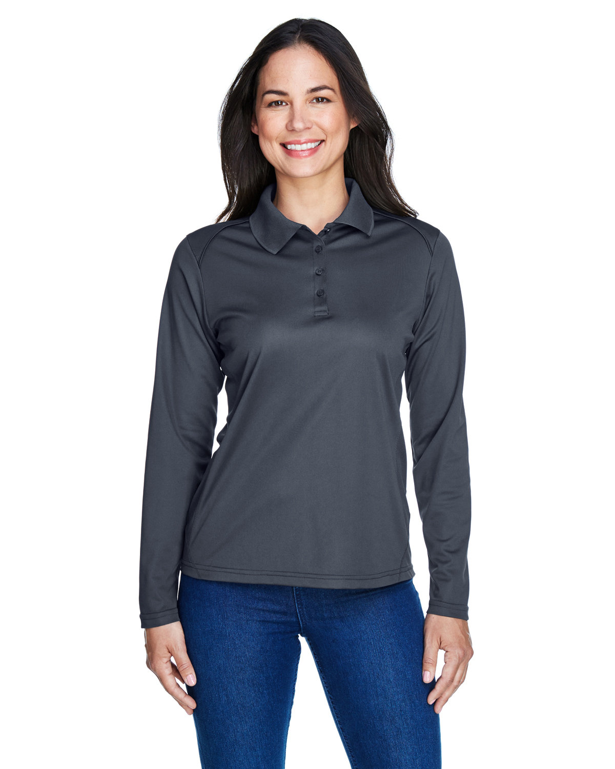 Extreme Ladies' Eperformance™ Snag Protection Long-Sleeve Polo CARBON