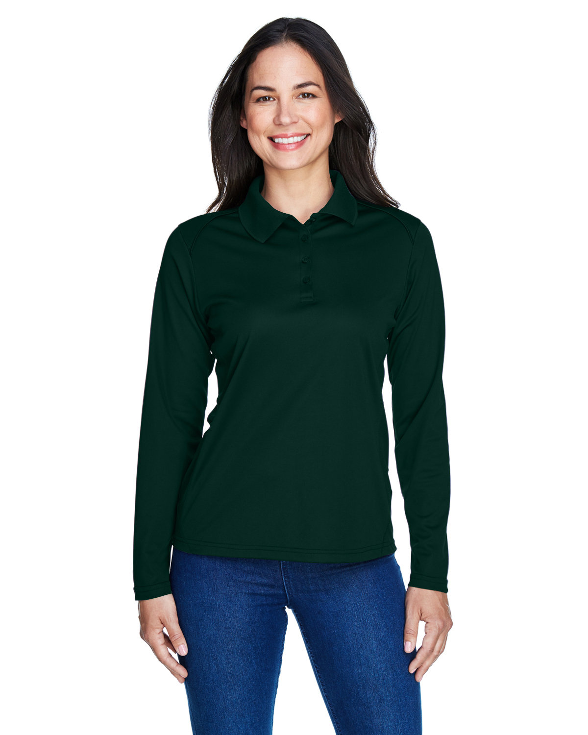 Extreme Ladies' Eperformance™ Snag Protection Long-Sleeve Polo FOREST