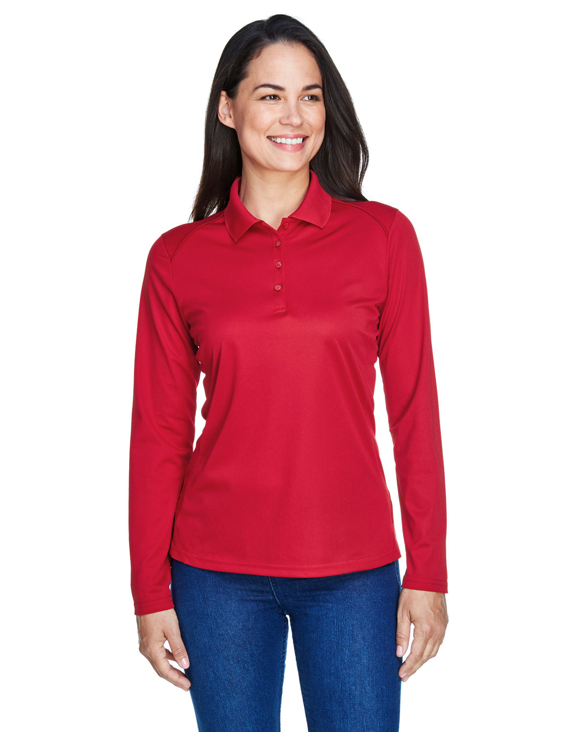 Extreme Ladies' Eperformance™ Snag Protection Long-Sleeve Polo CLASSIC RED