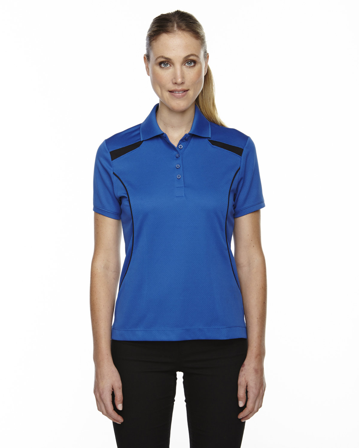 Extreme Ladies' Eperformance™' Tempo Recycled Polyester Performance Textured Polo NAUTICAL BLUE