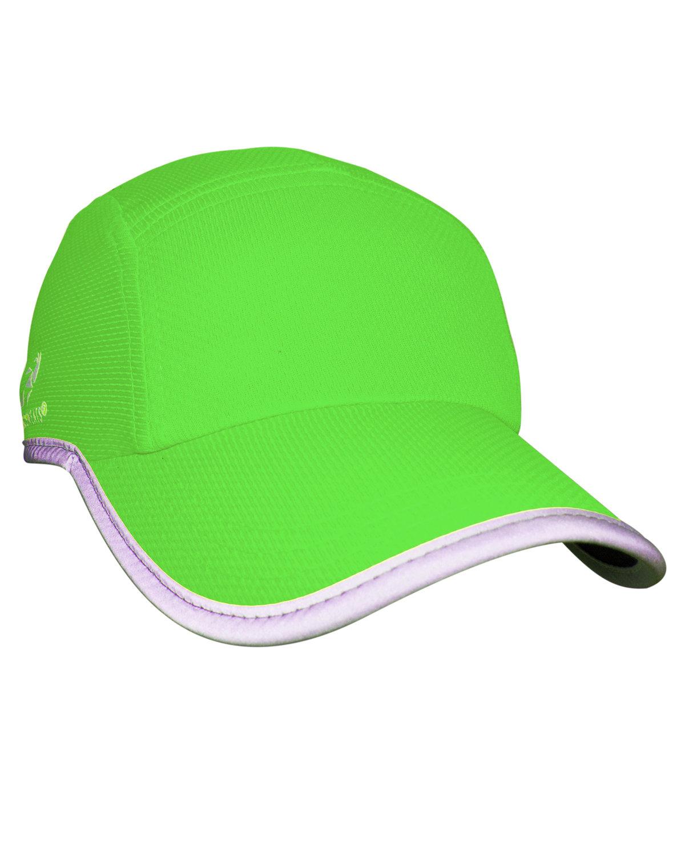 Headsweats Unisex Reflective Knit Race Hat HI VIZ GREEN