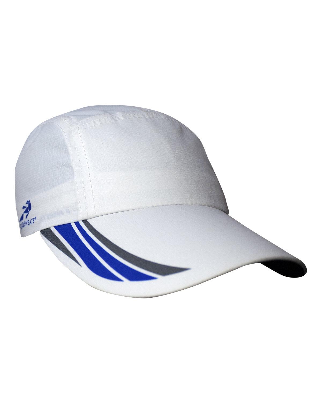 Headsweats Unisex Woven Race Hat WHITE/ROYAL/ GRY