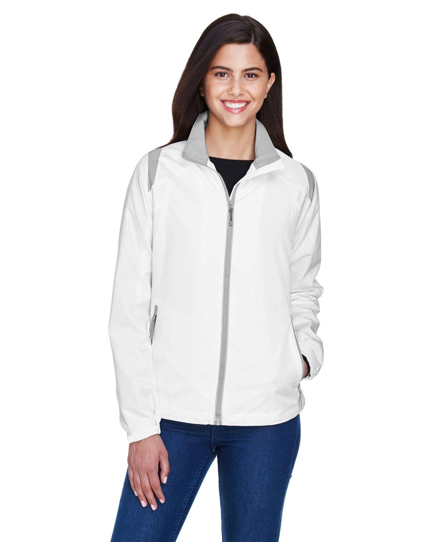 North End Ladies' Endurance Lightweight Colorblock Jacket WHITE