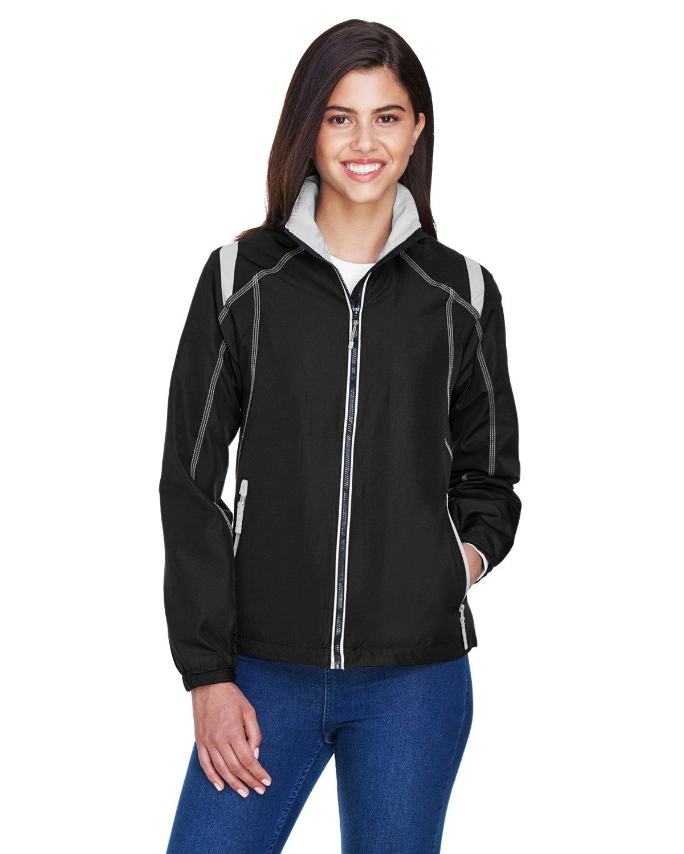 North End Ladies' Endurance Lightweight Colorblock Jacket BLACK
