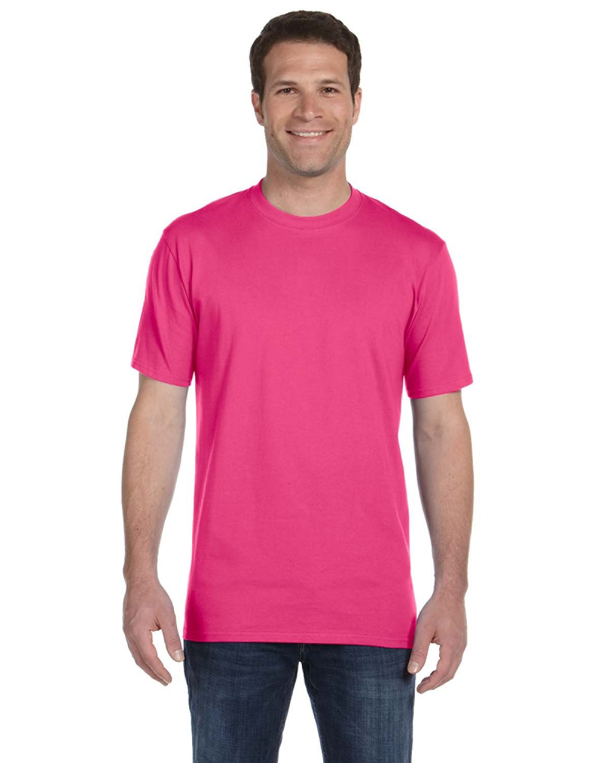 Anvil Adult Midweight T-Shirt HOT PINK