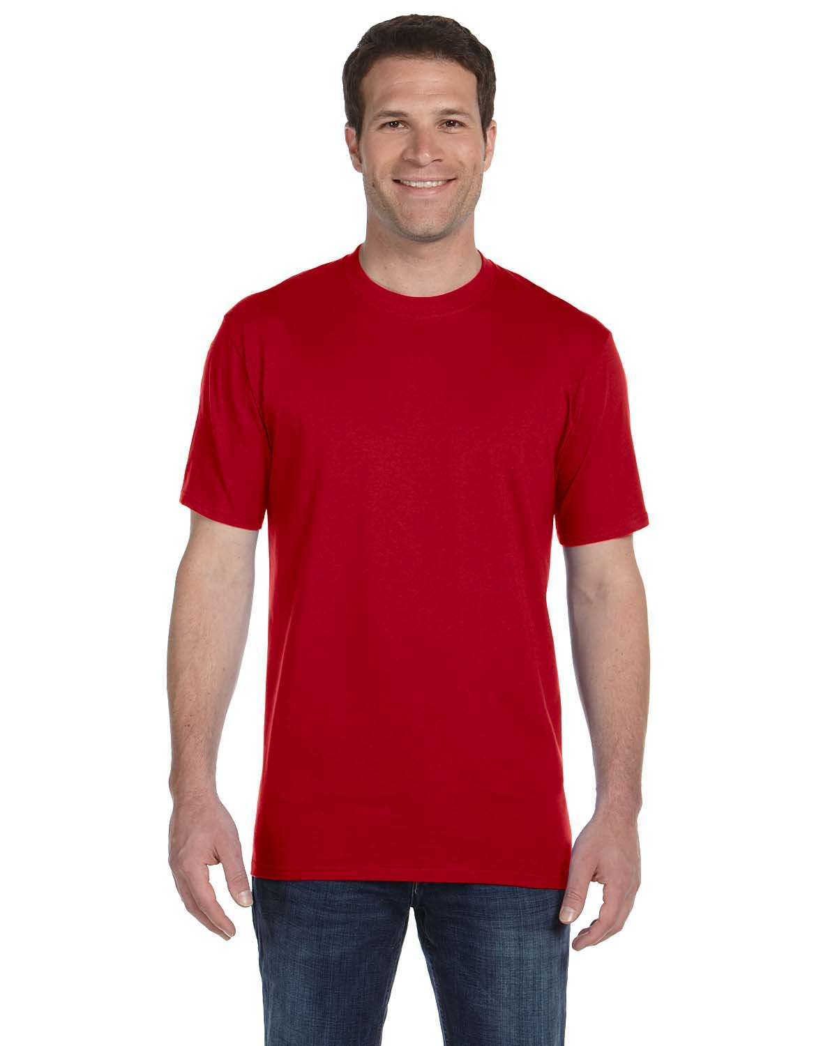 Anvil Adult Midweight T-Shirt RED