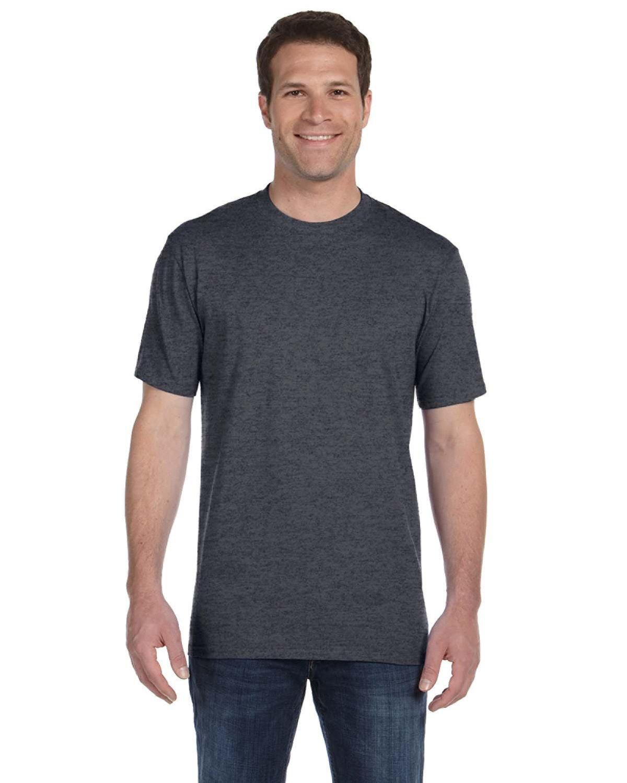 Anvil Adult Midweight T-Shirt HEATHER DK GREY
