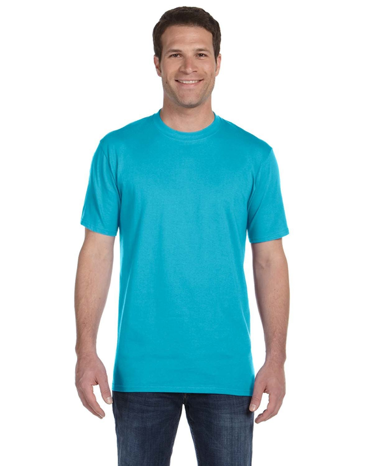 Anvil Adult Midweight T-Shirt POOL BLUE