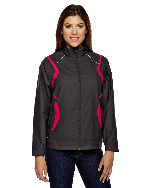 North End Ladies' Venture Lightweight Mini Ottoman Jacket BLACK SILK