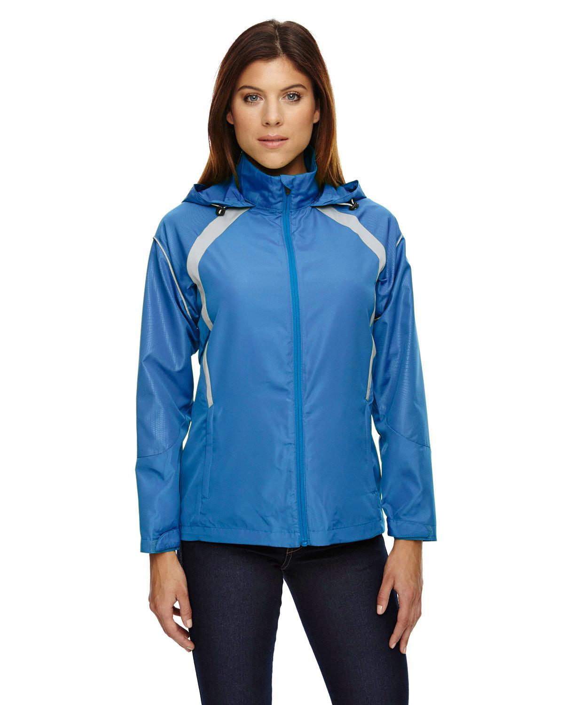 North End Ladies' Sirius Lightweight Jacket with Embossed Print LT NAUTICAL BLU