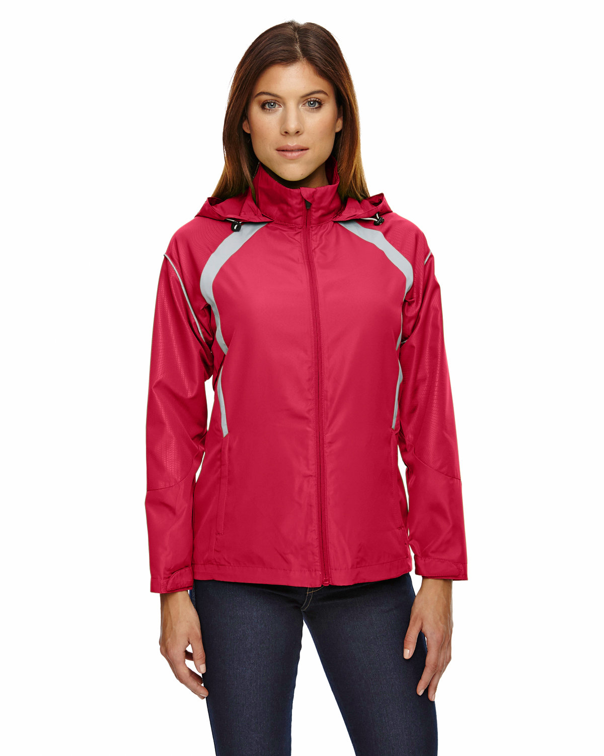North End Ladies' Sirius Lightweight Jacket with Embossed Print OLYMPIC RED