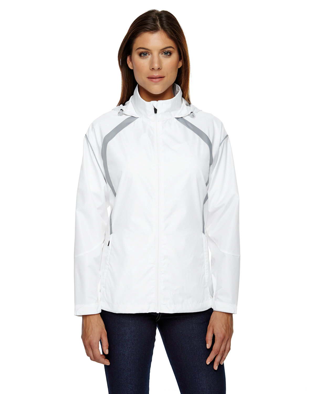 North End Ladies' Sirius Lightweight Jacket with Embossed Print WHITE