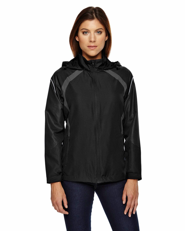 North End Ladies' Sirius Lightweight Jacket with Embossed Print BLACK