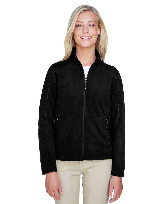 North End Ladies' Voyage Fleece Jacket BLACK