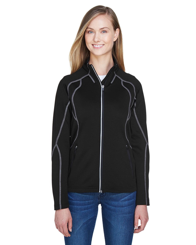 North End Ladies' Gravity Performance Fleece Jacket BLACK
