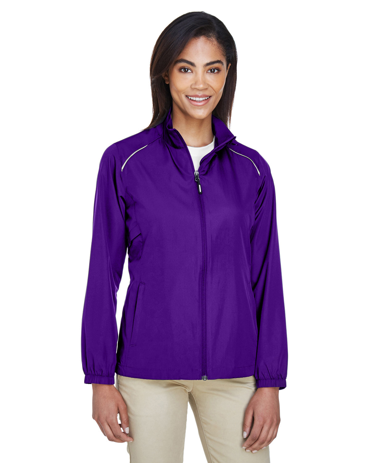 Core 365 Ladies' Motivate Unlined Lightweight Jacket CAMPUS PURPLE