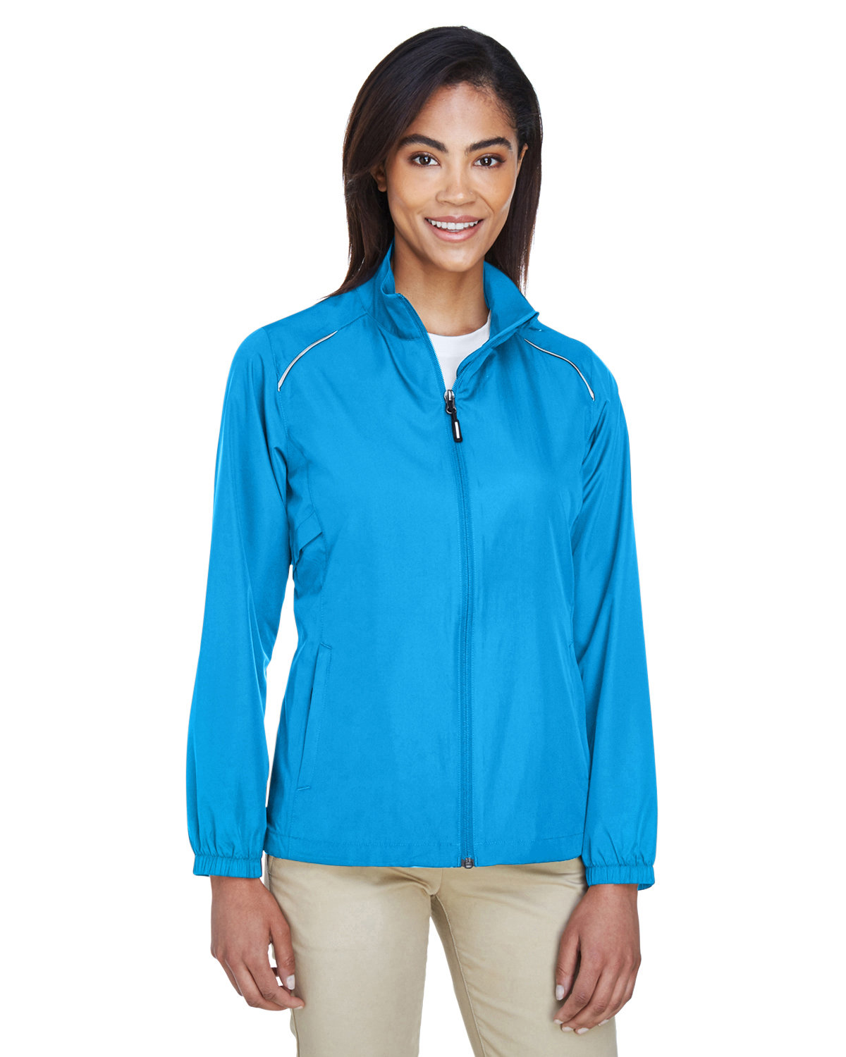 Core 365 Ladies' Motivate Unlined Lightweight Jacket ELECTRIC BLUE