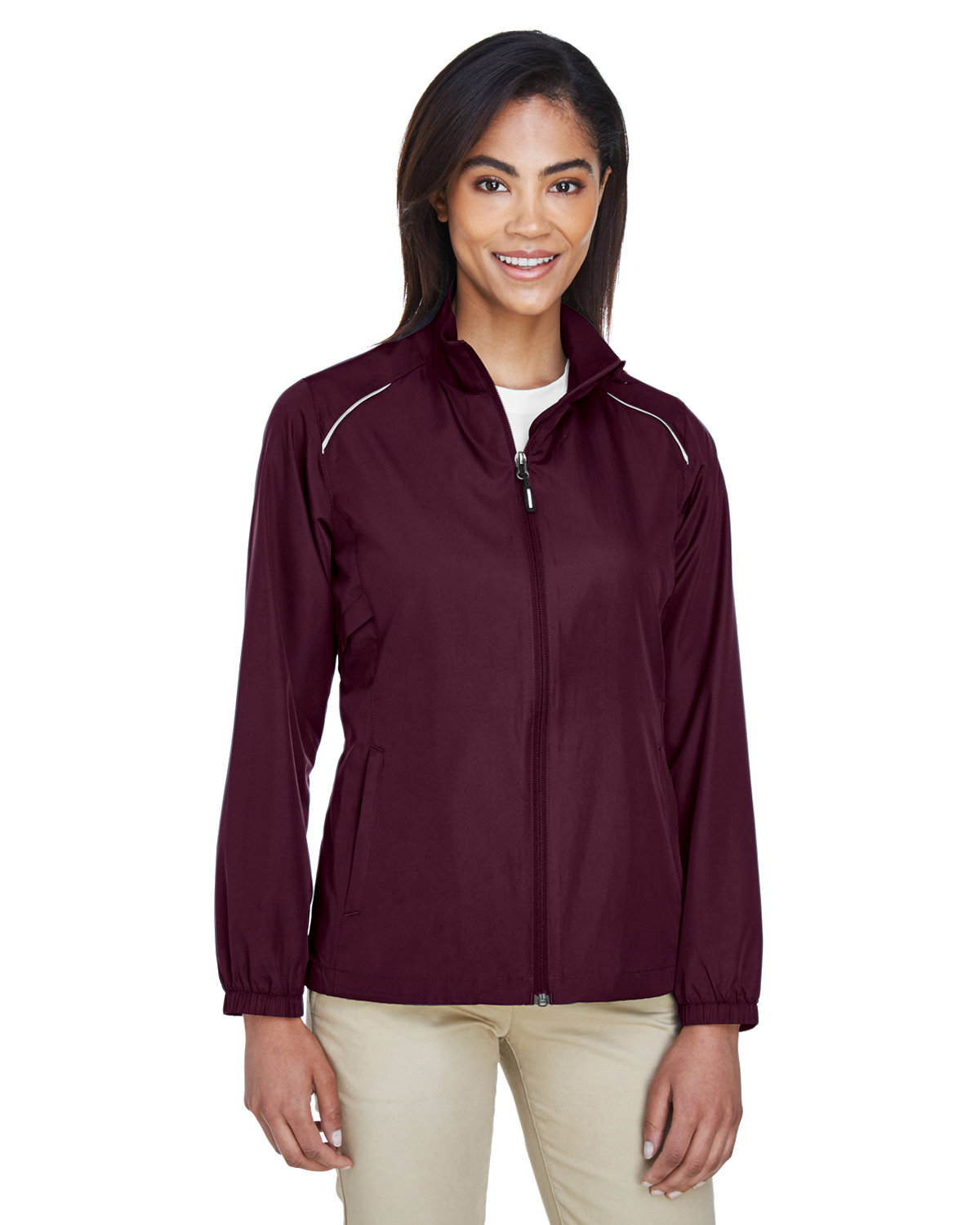 Core 365 Ladies' Motivate Unlined Lightweight Jacket BURGUNDY