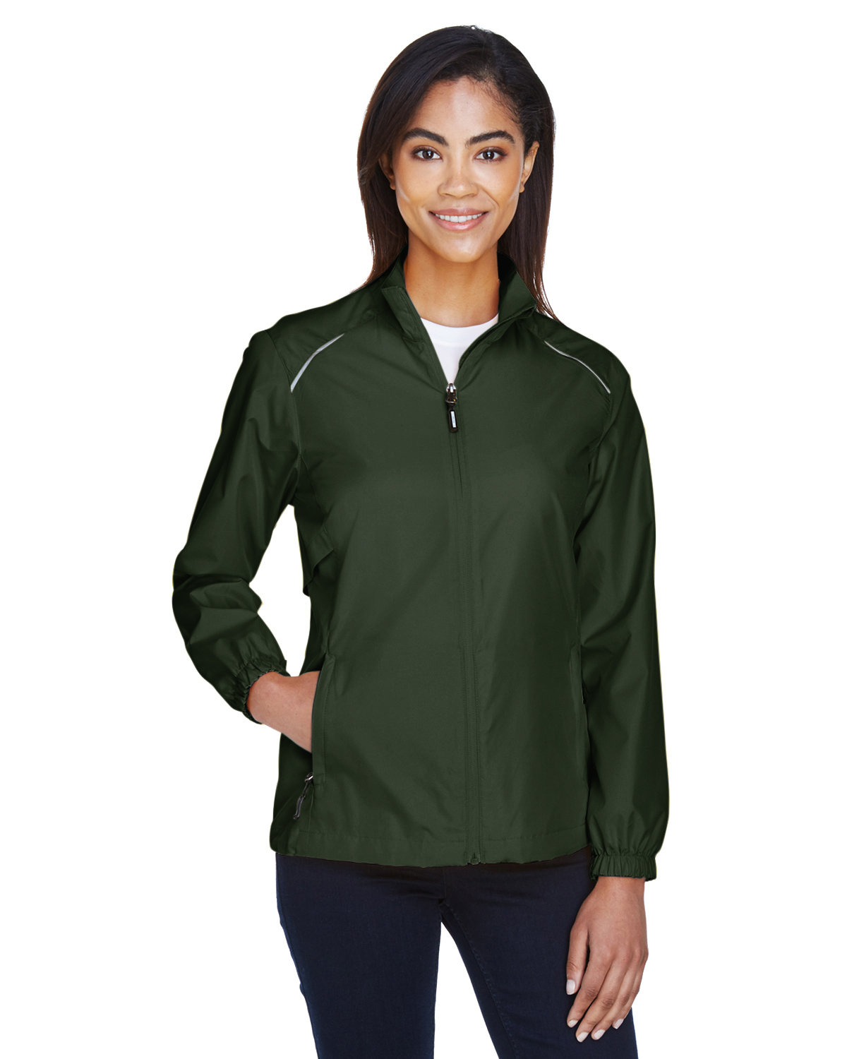 Core 365 Ladies' Motivate Unlined Lightweight Jacket FOREST