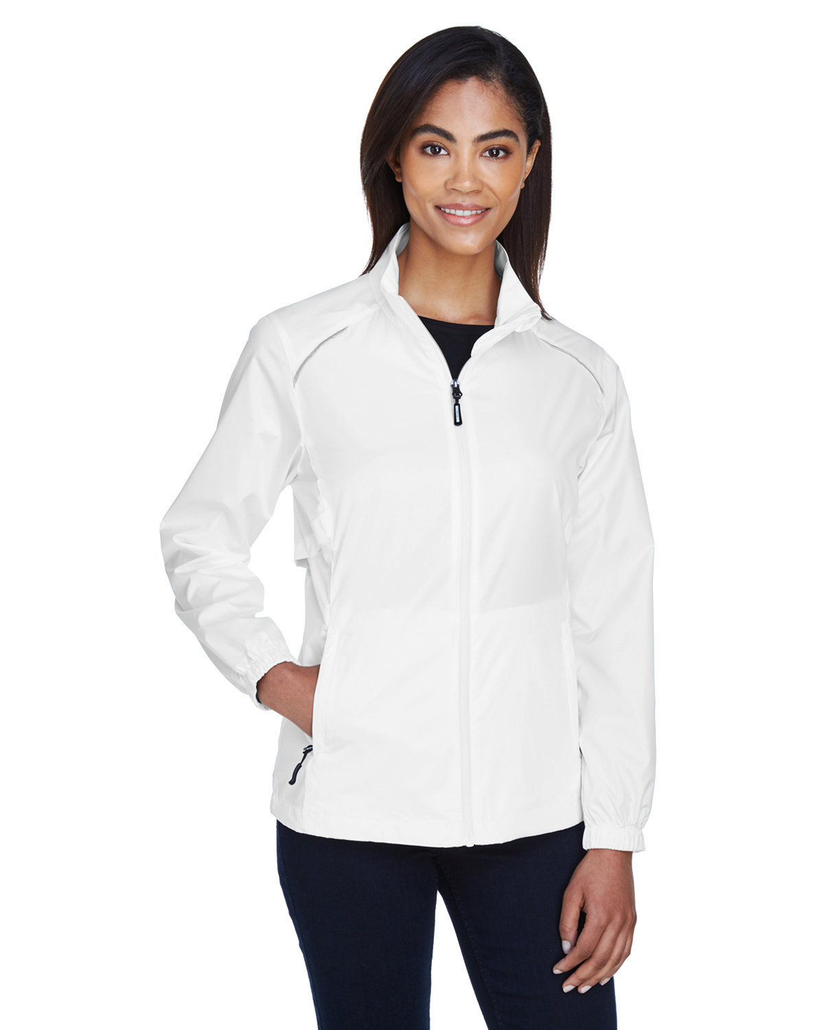 Core 365 Ladies' Motivate Unlined Lightweight Jacket WHITE