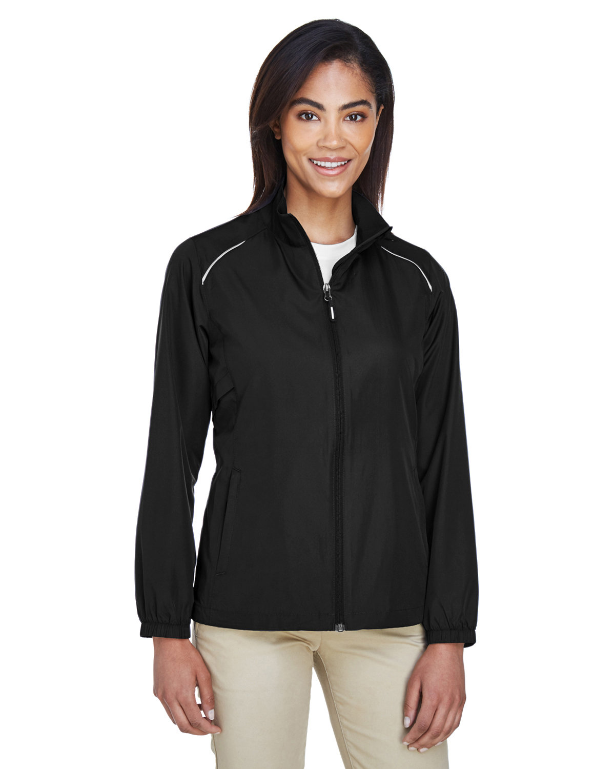 Core 365 Ladies' Motivate Unlined Lightweight Jacket BLACK