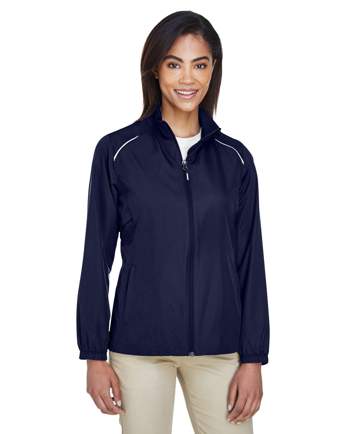 Core 365 Ladies' Motivate Unlined Lightweight Jacket CLASSIC NAVY