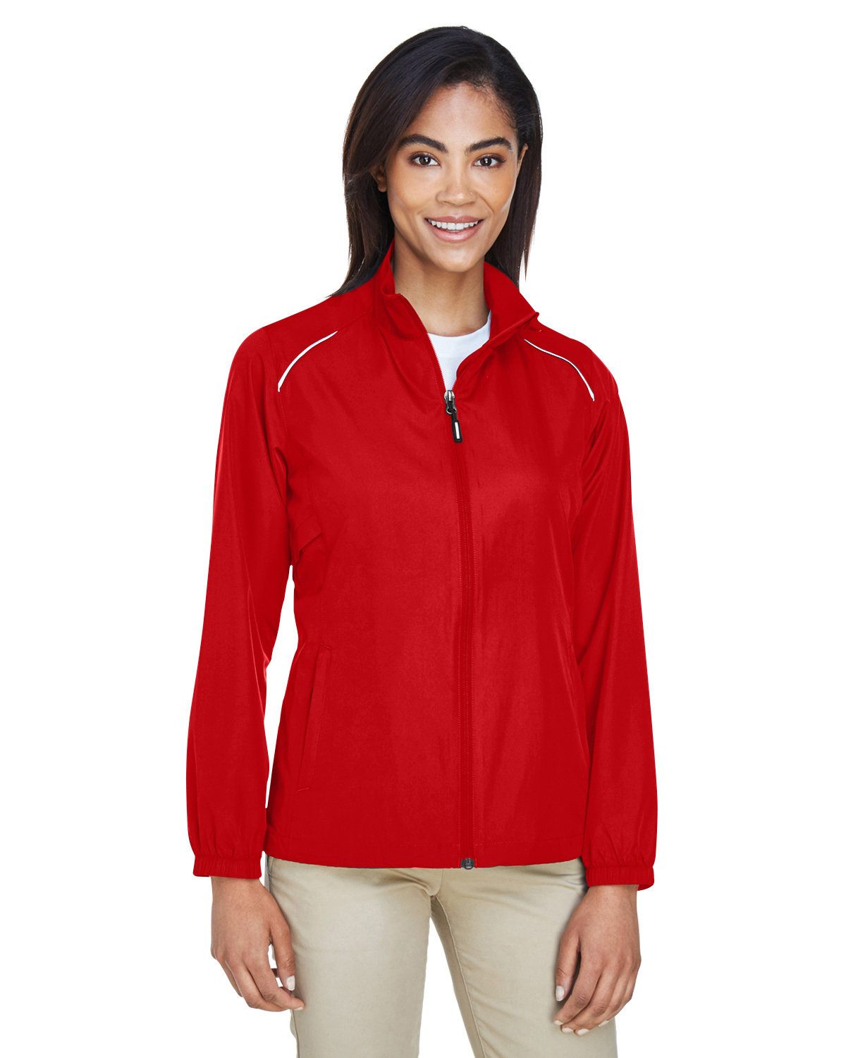 Core 365 Ladies' Motivate Unlined Lightweight Jacket CLASSIC RED