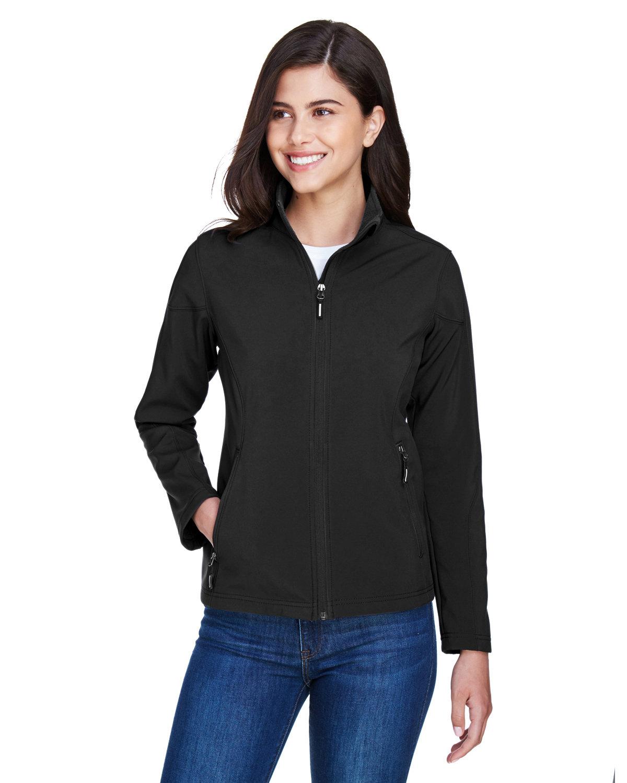 Core 365 Ladies' Cruise Two-Layer Fleece Bonded SoftShell Jacket BLACK